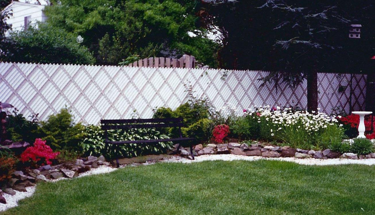 Chain link with slats quality fence company